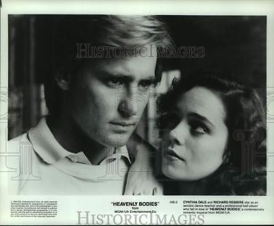 """1984 Press Photo Cynthia Dale and Richard Rebiere star in """"Heavenly Bodies"""""""
