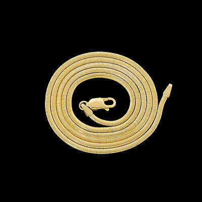 Vtg Gorgeous 14k Gold 22 Snake Necklace Chain Silky Soft Well Made Quality 11.6G