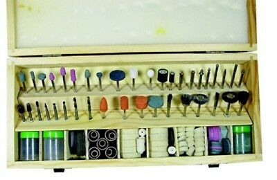 """228pc Rotary Tool Accessory Bit Set w Case 1/8"""" Accessories for Grinding Hobby"""