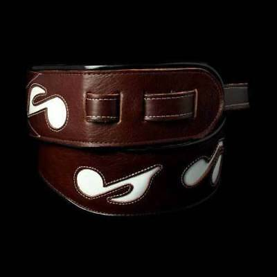 Jodi Head SRV Music Notes Guitar Strap (Brown/White)