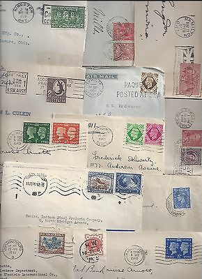 UK GB SOUTH AFRICA AUSTRALIA 1920 1940's COLLECTION OF 23 COMMERCIAL COVER INCLU
