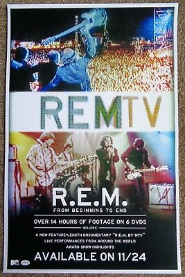R.E.M. REMTV POSTER 11x17 (from 2014)