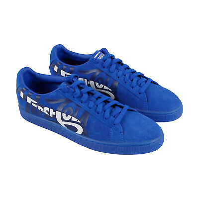 1b35effc7365e3 PUMA SUEDE CLASSIC X Pepsi Mens Blue Suede Lace Up Sneakers Shoes ...