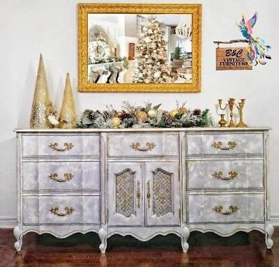 Large French Provincial Dresser! Hand Painted