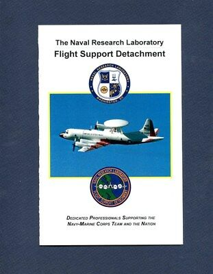 NAVAL RESEARCH LABORATORY Flight Research DET US Navy P-3 ORION Squadron Booklet
