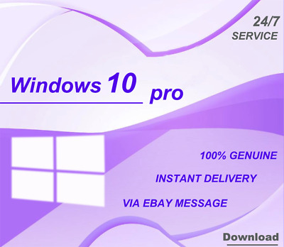 Genuine Windows 10 Professional Pro Key 32 / 64 Bit Activation Code License Key