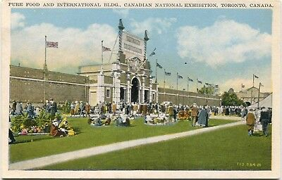 (#410) Pure Food Building Canadian National Exhibition Toronto 1920s Postcard