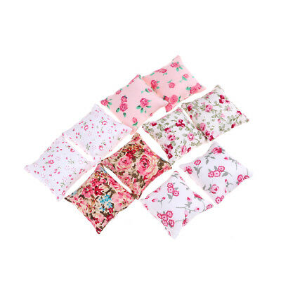 1PAIR Flower Pillow Cushions For Sofa Couch Bed 1/12 Dollhouse Miniature M&O