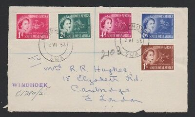 SOUTH WEST AFRICA 244-8 Coronation 1953 FD front