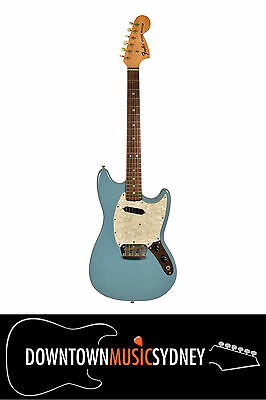 FENDER USA Musicmaster Electric Guitar Short Scale Vintage Blue 1973 + Case