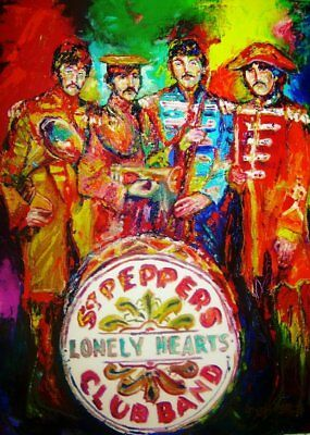 The Beatles  Sgt Peppers Lonely Hearts Club Band   Art    .5 x 3.5 Fridge Magnet