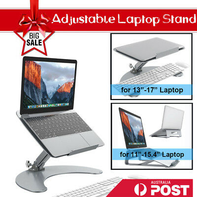 Adjust Computer Desk Riser Table Laptop Stand Cooling Ventilated Notebook Holder