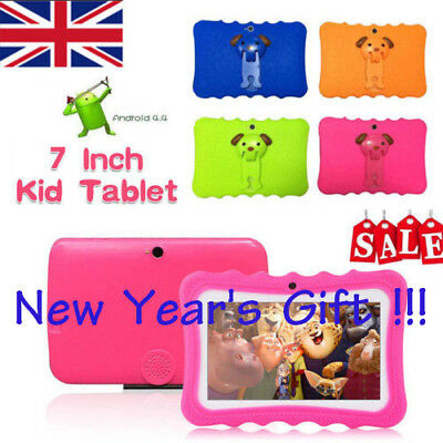 "7"" Tablet PC Kids for Education Android 4.4 Quad Core 8GB Camera Bluetooth WiFi"