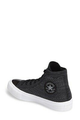 24ce53b8ad6df Converse Chuck Taylor All Star Fly Knit Hi Top Black Anthracite Sneaker  156736C