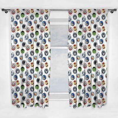 MARVEL AVENGERS STRONG CURTAINS 66in x 72in NEW