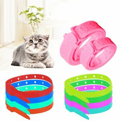 New FLEA COLLAR Pet Cat Kitten Puppy Dog Adjustable Anti Tick Pest Control XU