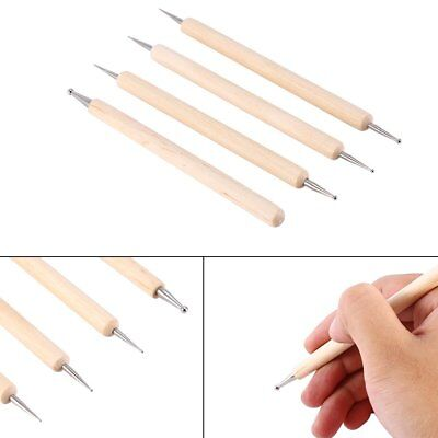 Pack of 4 Ball Stylus Polymer Clay Pottery Ceramics Sculpting Modeling Tools