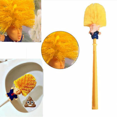 Donald Trump Toilet Brush Make Toilet Great Again Gold Home WC Cleanning Tool DY