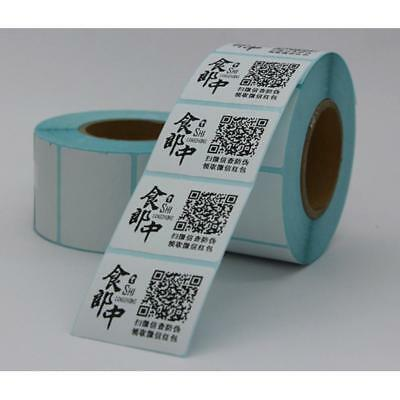 1 Roll 30mm x 10mm Adhesive Thermal Label Sticker Paper