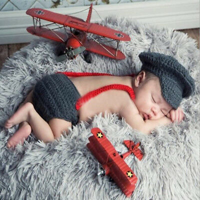1Set Newborn Baby Photography Props Costume Suspender Hat Trousers Bowknot Tie
