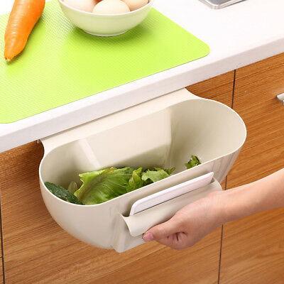 Cabinet Door Hanging Waste Bin Desktop Storage Trash Kitchen Basket Can Garbage