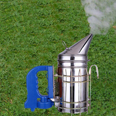 USB Charge Large Bee Hive Smoker Stainless Steel Heat Shields Beekeeping Equip