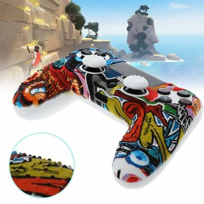 Multicolor Silicone Case Cover with Grip Cap For Playstation PS4 Controller