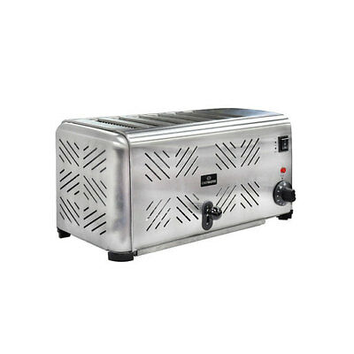 Chefmaster 6 Slot Toaster Stainless Steel Toaster - HEA896 Catering Commercial