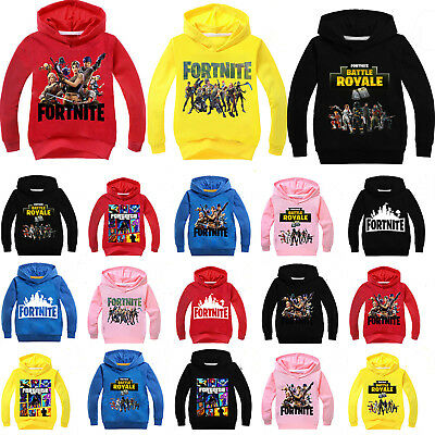 Fortnite Hoodie Sweatshirt Tops Kids Boys Girls Hooded Casual Jacket Jumper Coat