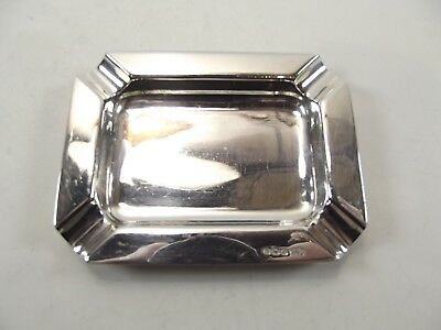 Small Antique Silver Ash Tray Hallmarked Sheffield 1944 Ref139/3