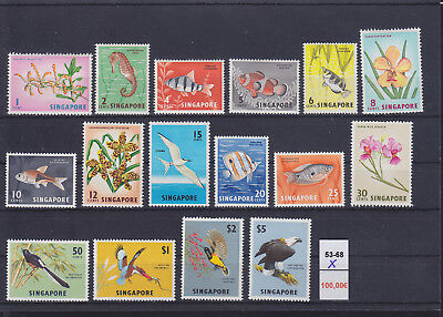 068683 Singapore 53-68 ** MNH Year 1962/67 Vögel Birds ...