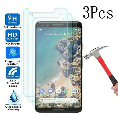 3X 9H Real Tempered Glass Screen Protector Saver for Google (Pixel 3)