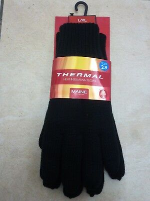 Mens Womens Knitted 1.8 Tog Double Insulated Warm Winter Thermal Gloves