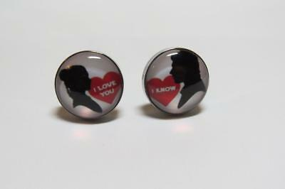 W2411...Gunmetal Cufflinks - Bride & Groom - Gift Bag - Free Uk P&P