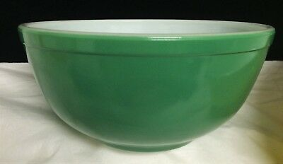 Vintage Pyrex Primary Colors Nesting Mixing Bowl Green #403 2½ Qt Mid Century