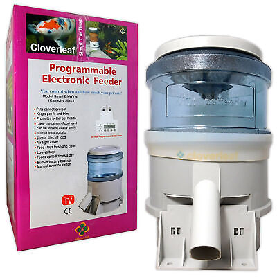 Cloverleaf Auto Feeder 5lb Electronic Automatic Koi Fish Food Garden Holiday