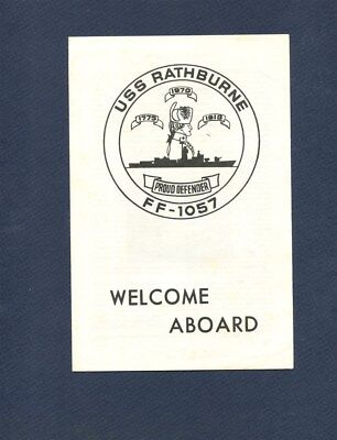 FF 1057 USS RATHBURNE WELCOME ABOARD Booklet US Navy Ship Squadron Pamphlet