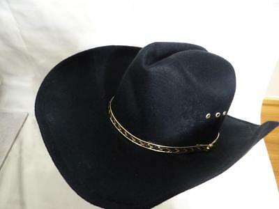 6bcc0e3c65d7c WESTERN COWBOY HAT Cattlemans With Cavalry Band Black (Small Medium ...
