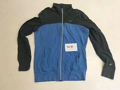 NIKE Girls Track Top in Blue & Grey Size Large L  (tt81)
