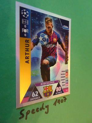 Topps Champions League 2018 2019 MEGA Signing Arthur Barcelona Match Attax #421