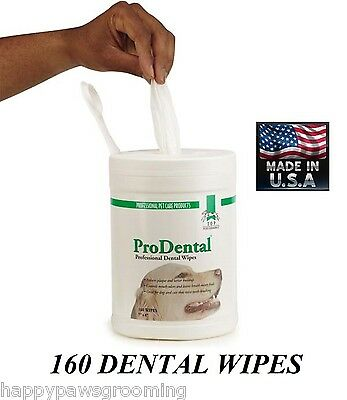 Top Performance ProDental DENTAL WIPES DOG PET*Cleans TEETH,Breath REDUCE PLAQUE