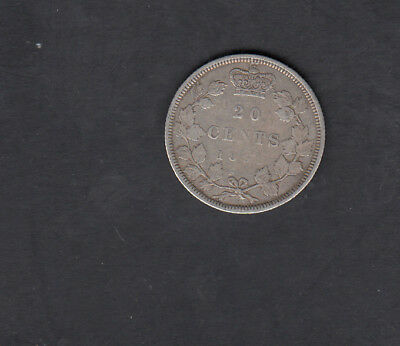 1858 Canada Silver 20 Cents