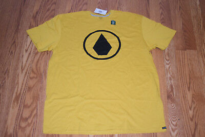 NWT Mens VOLCOM Solid Stone Mustard Yellow Graphic T-Shirt Size XL X-Large