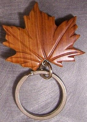 Intarsia Solid Wood Key Ring Old West Pistol NEW
