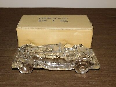 "Vintage Old Auto 7 1/2"" Long Glass Car Candy Container New In Box Nos"