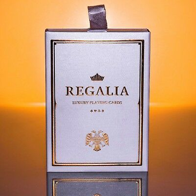 Regalia White Gold Luxury Playing Cards Poker Size Deck by Shin Lim limited