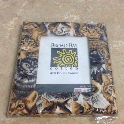 Cat kitty picture frame 4 x 6
