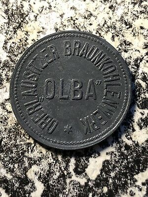 U/D Olba 50 Pfennig Germany Private Notgeld Token Lot#N847 Oberlausitzer Braun.