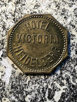 U/D Heidelberg Germany Beer Token Lot#N903 Hotel Victoria