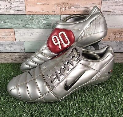 factory outlets on sale outlet store NIKE TOTAL 90 III Silver Red SG Football Boots UK Size 9 EU ...